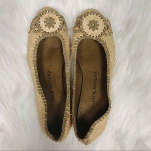 Jack Rogers Jr Dakota Woven Straw Ballet Flats 7.5 for sale